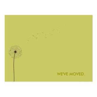 drift:  moving announcement postcard