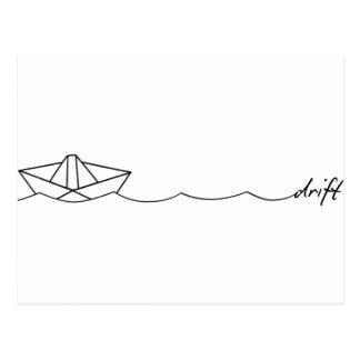 Drift Paper Boat Postcard