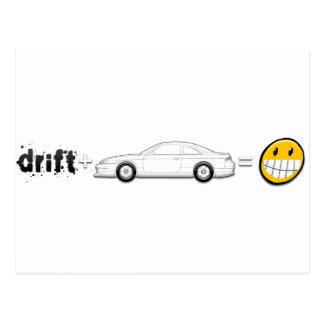 Drift Silvia S14 is fun Postcard
