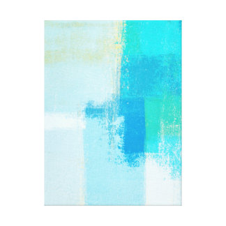 'Drift' Turquoise Abstract Art Canvas Print
