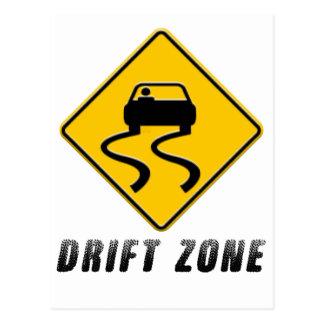 Drift Zone sign Postcard