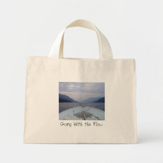 Drifting Boat, Going With the Flow Mini Tote Bag