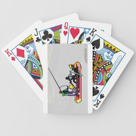 """Drifting"" by PatternWear© Bicycle Playing Cards"