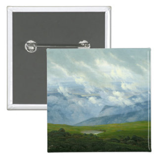 Drifting Clouds 2 Inch Square Button