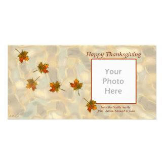 Drifting Fall Leaves Thanksgiving Card
