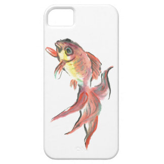 drifting goldfish: Goldie , Sumi-e in color iPhone 5 Cover
