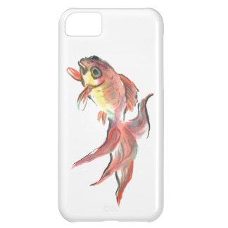 drifting goldfish: Goldie , Sumi-e in color iPhone 5C Covers