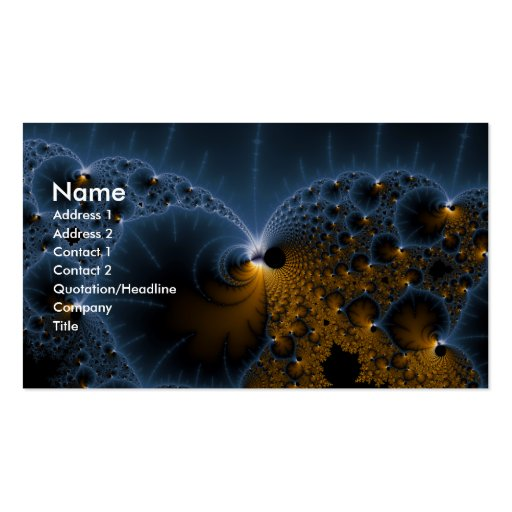 Drifting Jellies - Fractal Art Double-Sided Standard Business Cards (Pack Of 100)