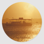 Drifting off into the Sunset Classic Round Sticker