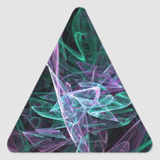 Drifting on the Music of the Spheres Cool Fractal Triangle Sticker