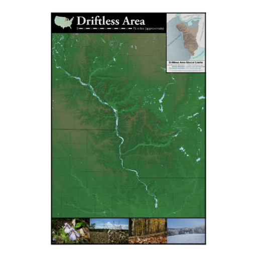 Driftless Area Map Poster 24x36in  Zazzle