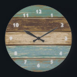 """Driftwood 2 Wall Clock<br><div class=""""desc"""">Design for the clock created in photoshop</div>"""