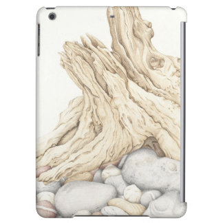Driftwood and Pebbles in Pencil iPad Air Case