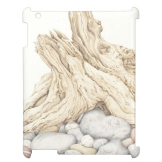 Driftwood and Pebbles in Pencil iPad Case