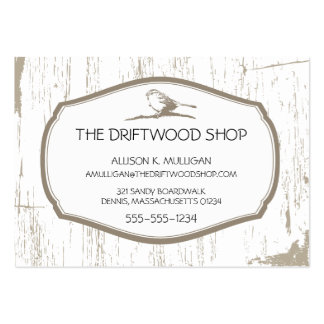 DRIFTWOOD AND SPARROW BIRD LARGE BUSINESS CARDS (Pack OF 100)