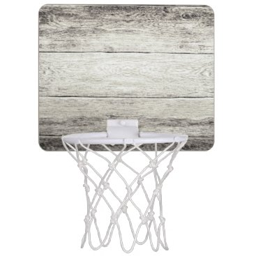bestcustomizables Driftwood Background Mini Basketball Backboard
