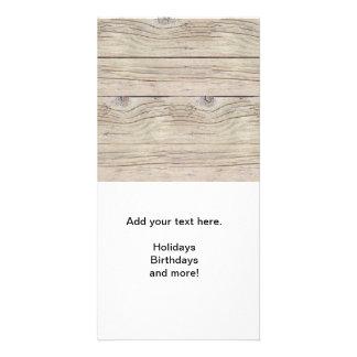 Driftwood Background Photo Card
