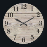 """Driftwood Background Texture Large Clock<br><div class=""""desc"""">Driftwood texture to be used as a background for your poem,  artwork,  message,  etc.,  or,  looks beautiful as is. The wood is weathered looking and looks very real. Peaceful,  natural and rustic looking.</div>"""