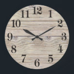 "Driftwood Background Texture Large Clock<br><div class=""desc"">Driftwood texture to be used as a background for your poem,  artwork,  message,  etc.,  or,  looks beautiful as is. The wood is weathered looking and looks very real. Peaceful,  natural and rustic looking.</div>"