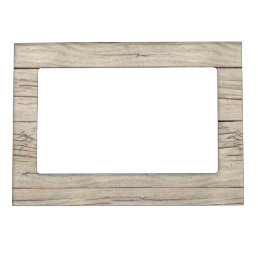 Driftwood Background Texture Magnetic Photo Frame