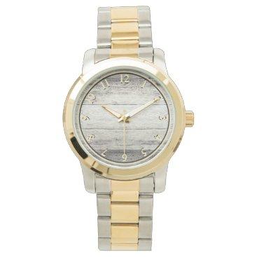 bestcustomizables Driftwood Background Wristwatch