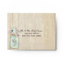 Driftwood Barn Wood Rustic Mason Jar Garden Floral Envelope