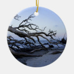 Driftwood Beach Double-Sided Ceramic Round Christmas Ornament
