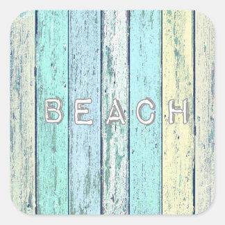 Driftwood Beach Square Sticker