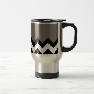 Driftwood Brown Pattern On Large Zigzag Chevron 15 Oz Stainless Steel Travel Mug