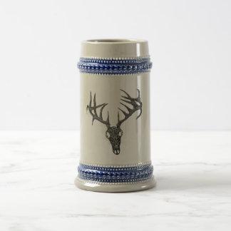 Driftwood Deer Skull Beer Stein