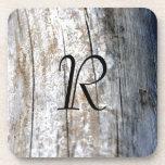 Driftwood del monograma posavasos de bebidas