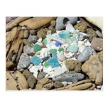 Driftwood del vidrio del mar de las postales de lo