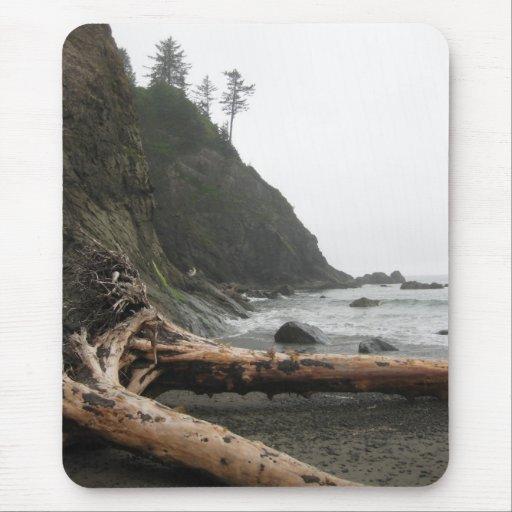 Driftwood en la playa tapetes de raton