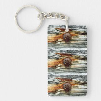 driftwood grey dock board keychain