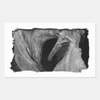 Driftwood Heart Rectangular Sticker