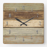 Driftwood in olive Wall Clock