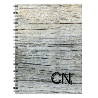 Driftwood in Shades of Grey Beach Personalized Notebook