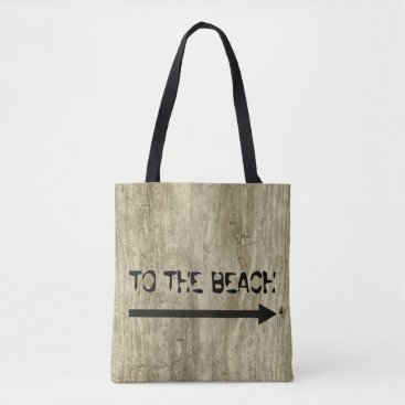 Beach Themed Driftwood Inspired, Drift Lumber Wooden Beach Look Tote Bag