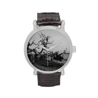 Driftwood negro relojes de pulsera