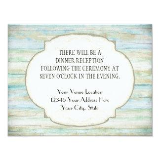Driftwood Ocean Beach Coastal Seashore Wedding Card