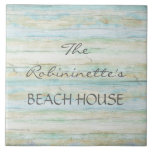 Driftwood Ocean Beach House Coastal Seashore Ceramic Tile