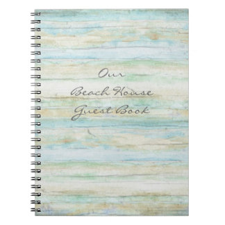 Driftwood Ocean Beach House Coastal Seashore Notebook