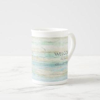 Driftwood Ocean Beach House Coastal Seashore Tea Cup