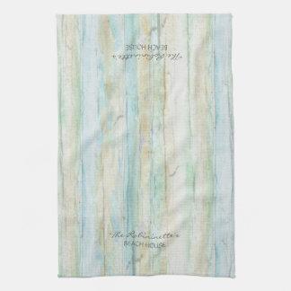 Driftwood Ocean Beach House Coastal Seashoredriftw Hand Towel