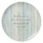 Driftwood Ocean Beach House Coastal Seashoredriftw Plate