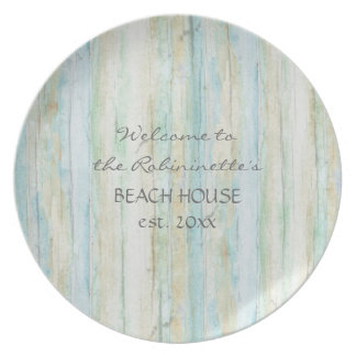 Driftwood Ocean Beach House Coastal Seashoredriftw Party Plate
