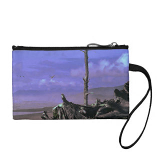 Driftwood on Beach Coin Wallet