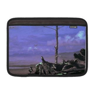 Driftwood on Beach MacBook Sleeve