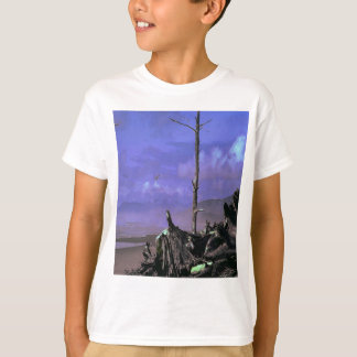 Driftwood on Beach T-Shirt