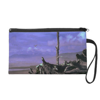 Driftwood on Beach Wristlet
